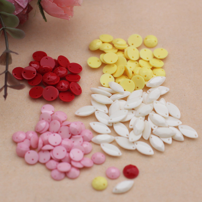 Lai mia-stickers sequins beaded accessories handmade diy accessories clothing accessories 4 color options