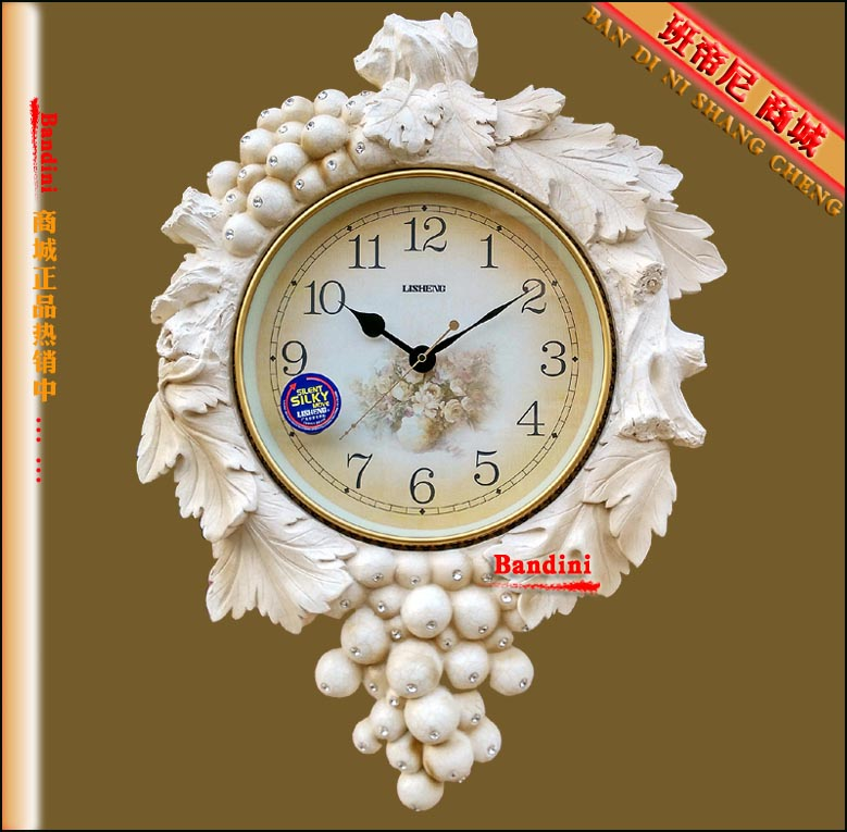 Lai sheng clock wall clock mute european antique clocks pastoral living room wall clock wall clock bedroom clock watch