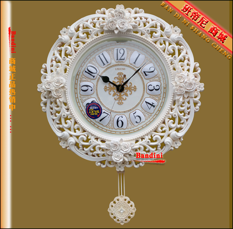 Lai sheng european fashion home study bedroom living room wall clock art wall clock watch wall clock wall clock mute wall clock