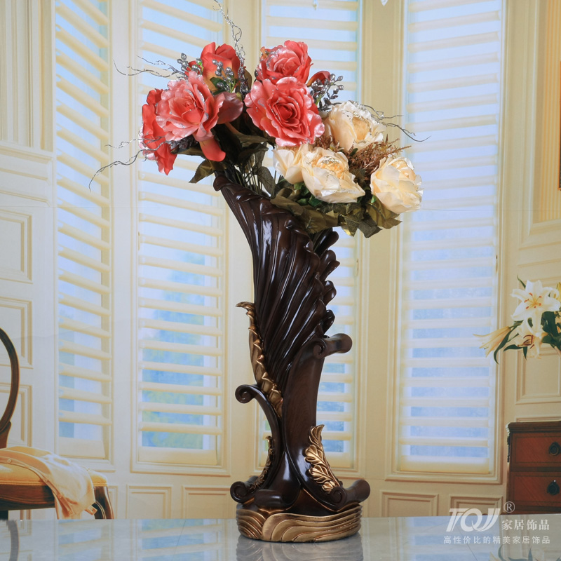 Lai sheng large european ornaments home accessories simulation flower vase suit artificial flowers artificial flowers dried flowers decorate the living room silk flower art