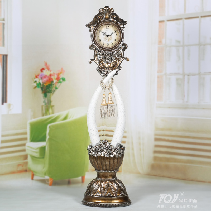 Lai sheng/oversized european ivory style retro style clock/resin pendulum/living room floor clock/252