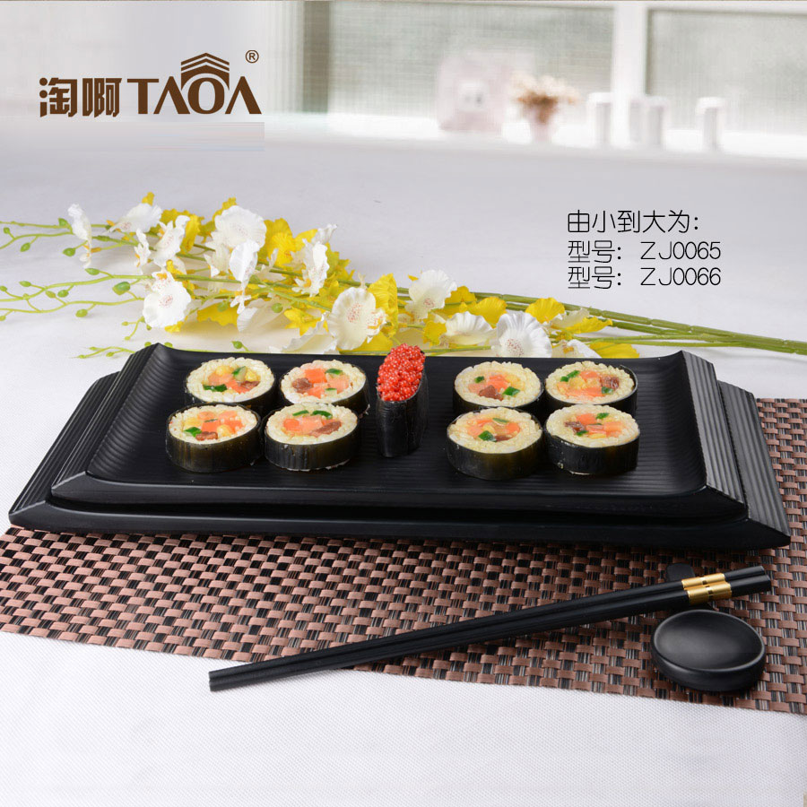 Lamb hot pot mutton barbecue dish tray rectangular plate of sushi plate creative thick melamine tableware melamine tray