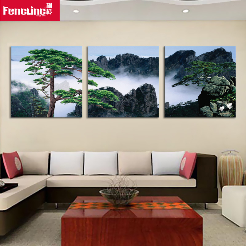 Landscape painting decorative painting the living room landscape landscapes living room mural painting decorative painting landscape paintings triptych