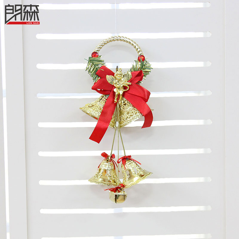 get quotations lang sen 30cm golden bell string of christmas window decoration christmas tree decorations santa claus christmas - Christmas Bells Decorations