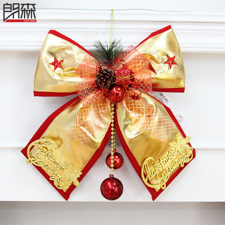Lang sen christmas bow large golden red velvet bow christmas ornaments christmas decorations christmas gifts