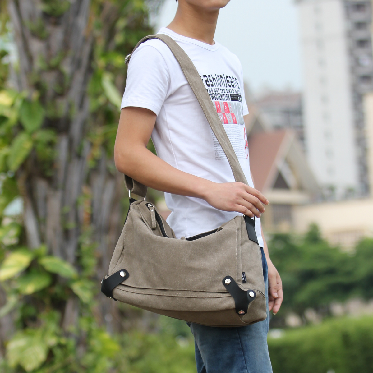 Langer canvas bag 2016 korean version of schoolbags shoulder bag messenger bag retro bag brigade line tide bag man bag tide