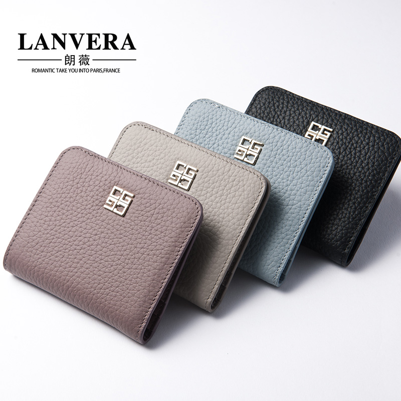 Lanvera jorvi japan and south korea the new ms. long wallet embossed first layer of leather wallet female mini purse female