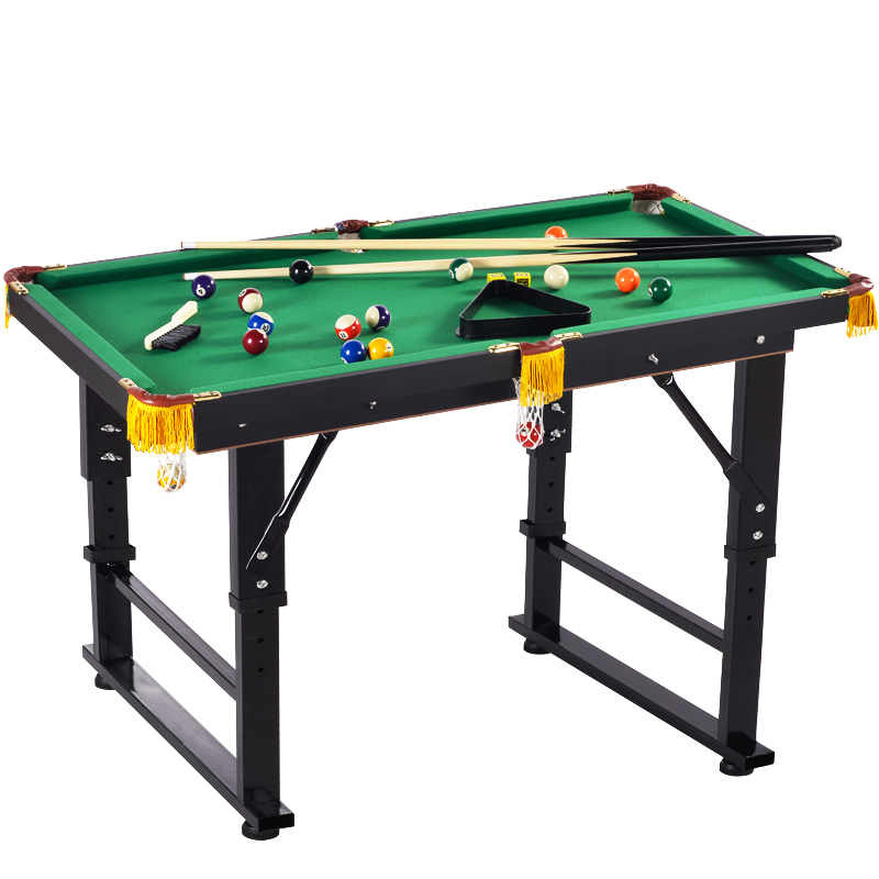 Large black 8 billiards children 1.2-1.4 standard household folding table tennis tables mini billiard table