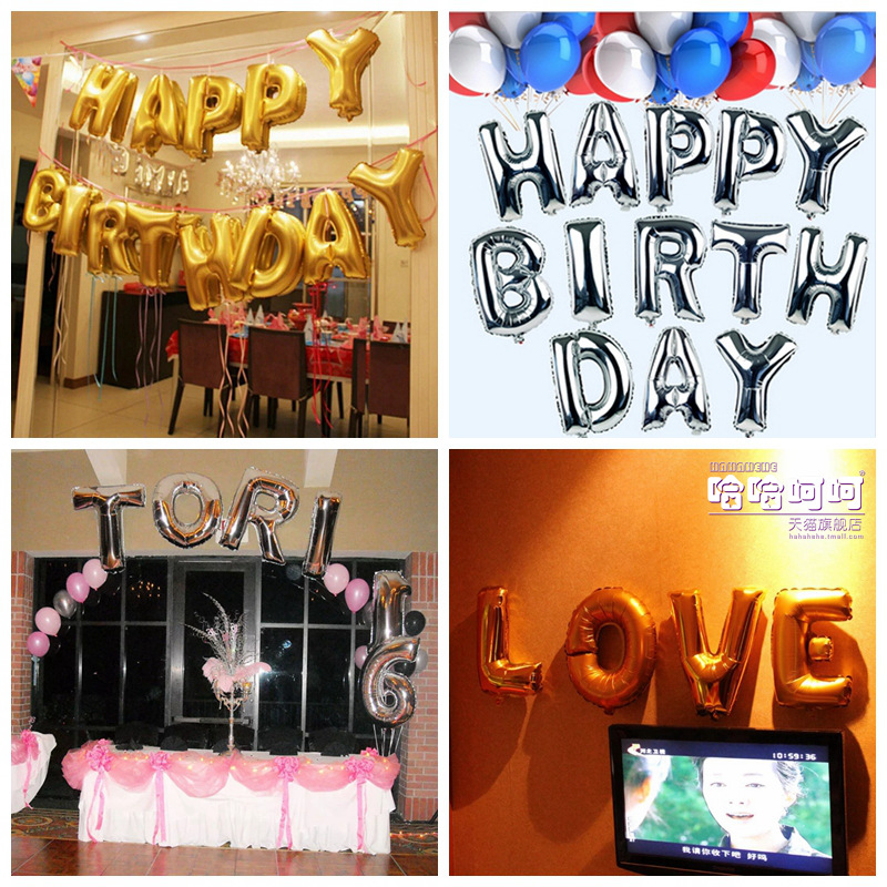 Large english letters aluminum foil balloons birthday birthday party arranged thicken wholesale 40 inch letters az