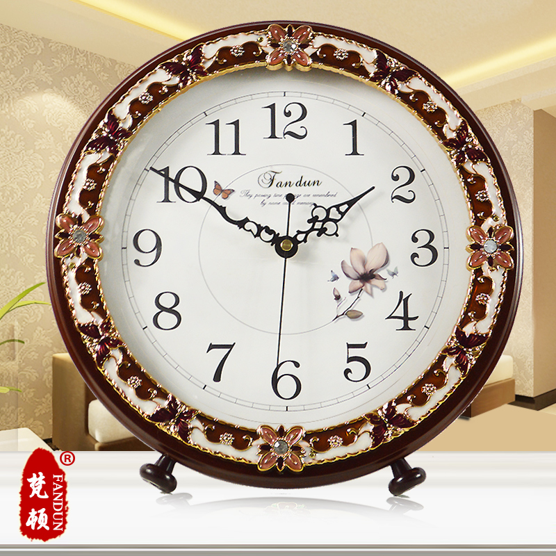 Large european creative gift decoration idyllic modern living room bedroom mute clock fashion simple quartz watch