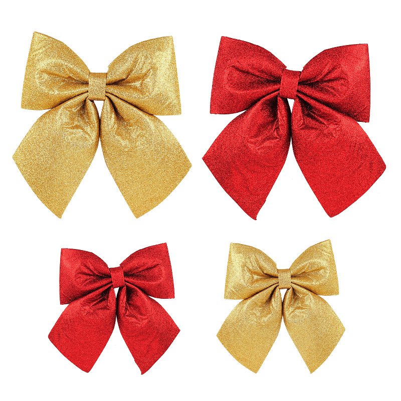 Large fabric christmas decorations christmas bow christmas scene decorated christmas tree ornaments