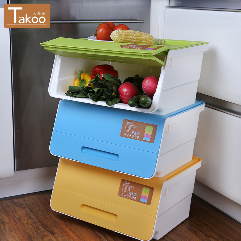 Get Quotations · Large Wando Home Large Stackable Plastic Storage Box  Plastic Storage Box Cabernet Boxes Of Clothing Order