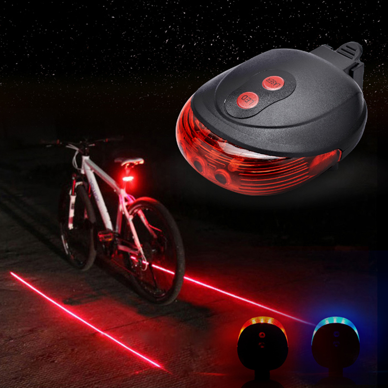 Laser usb rechargeable led bike lights taillights mountain bike taillight warning light lights night riding accessories and equipment dead fly line