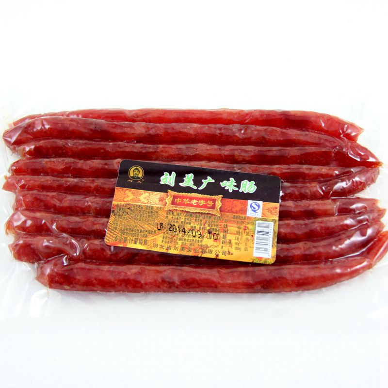 Lau cantonese style sausage sausages 200g cantonese style open bags of instant dry vacuum packaging