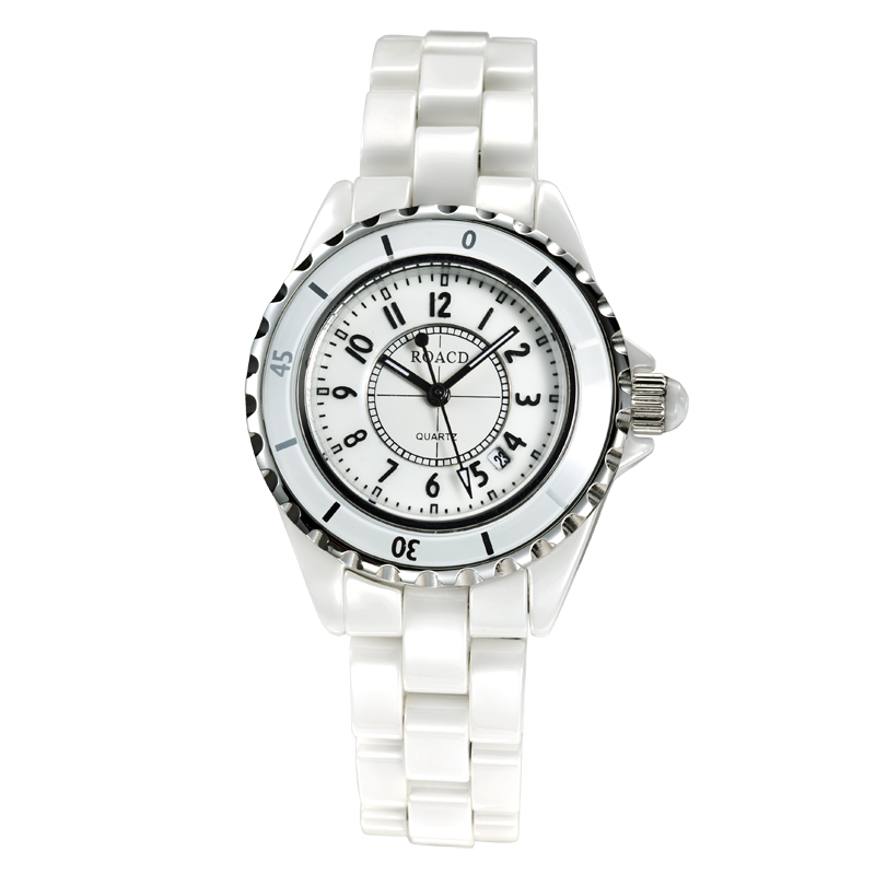 Laurel princeton genuine white ceramic watches ladies watches quartz watch fashion female form diamond watch
