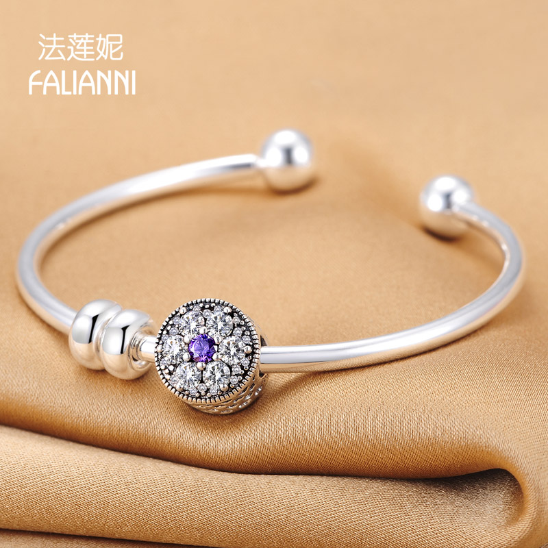 Law lanie bracelet temperament female transfer beads silver bracelet s925 sterling silver bracelet female opening japan and south korea to send his girlfriend