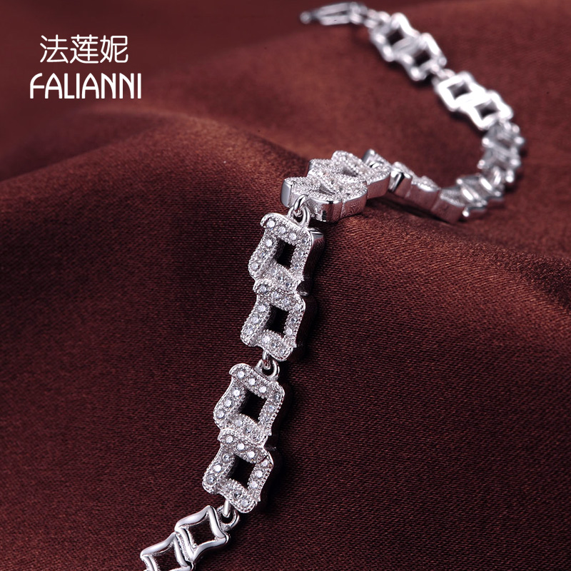 Law lanie fine micro s925 silver bracelet female thousands knot soil fangzuan hand jewelry japan and south korea fashion jewelry