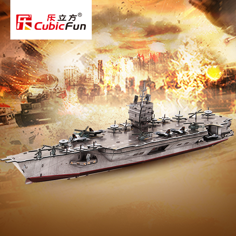 Le cube 3d three-dimensional puzzle aircraft carrier assembled model diy handmade creative toys for children