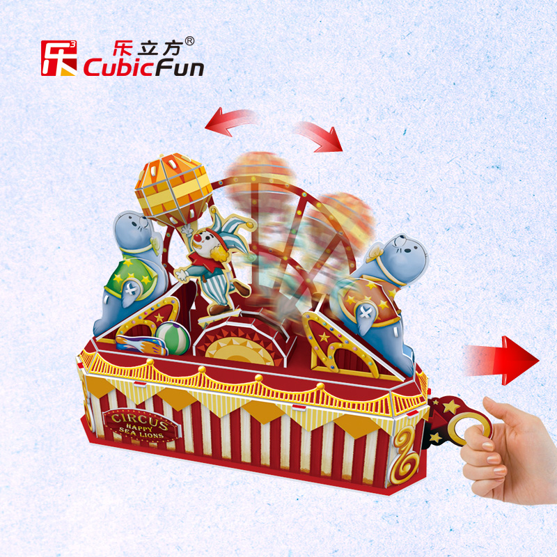 Le cube 3d three-dimensional puzzle of children's paradise dynamic handmade paper model assembled puzzle toy sea lion