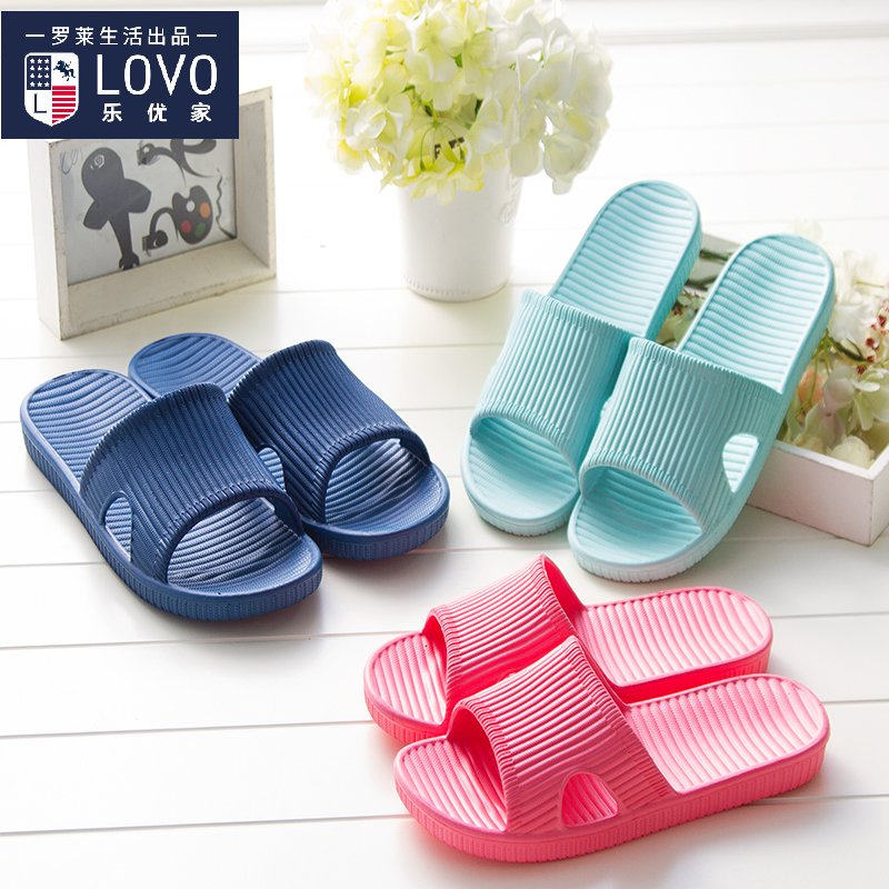 2dbbd2082d4a9c Get Quotations · Le excellent home couple home bathroom slippers summer home  for men and women take a bath