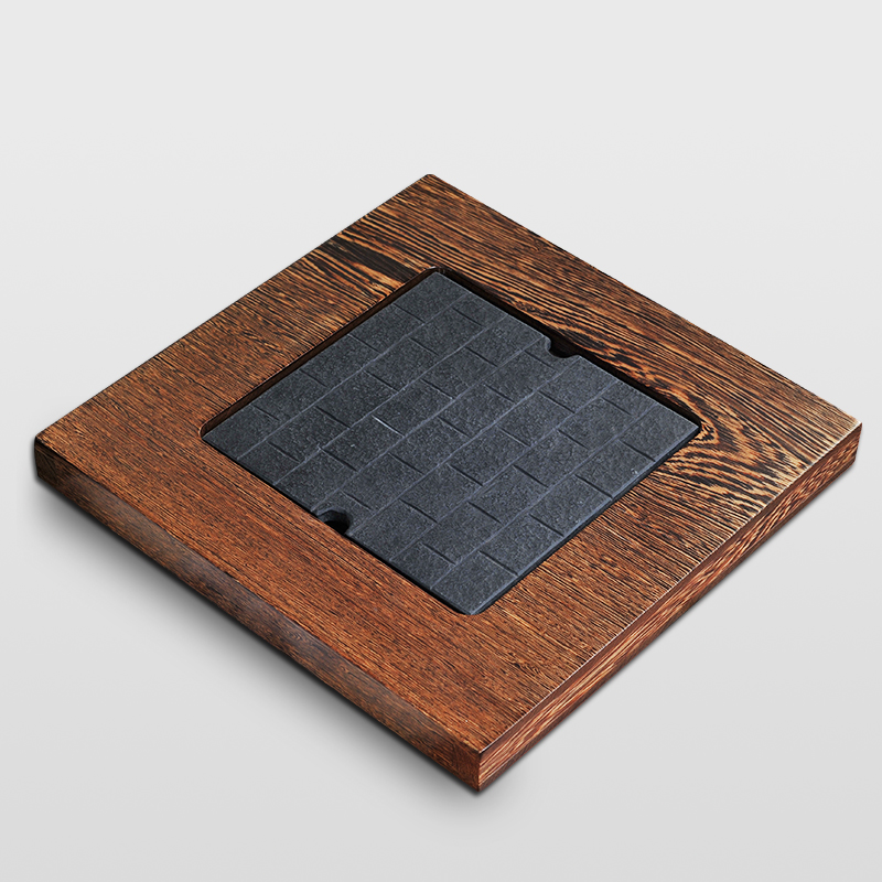 Le tao yuan quartet ugyen wood tea tray drainage stone tea sets wenge wood kung fu tea saucer tea sea