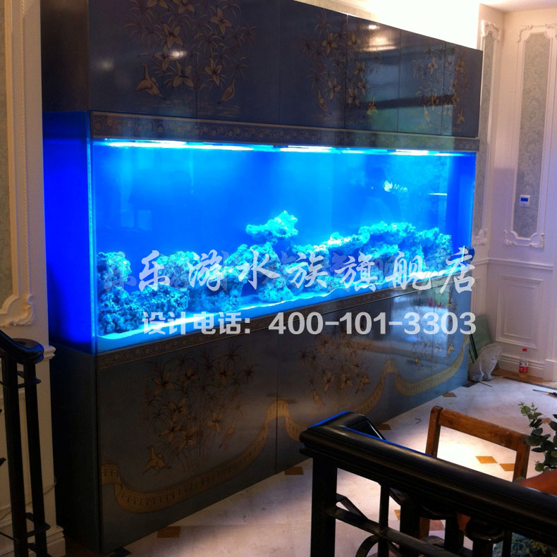 Le tour professional custom large fish tank embedded design simulation coral coral aquarium fish tank aquarium seawater aquarium fish tank factory