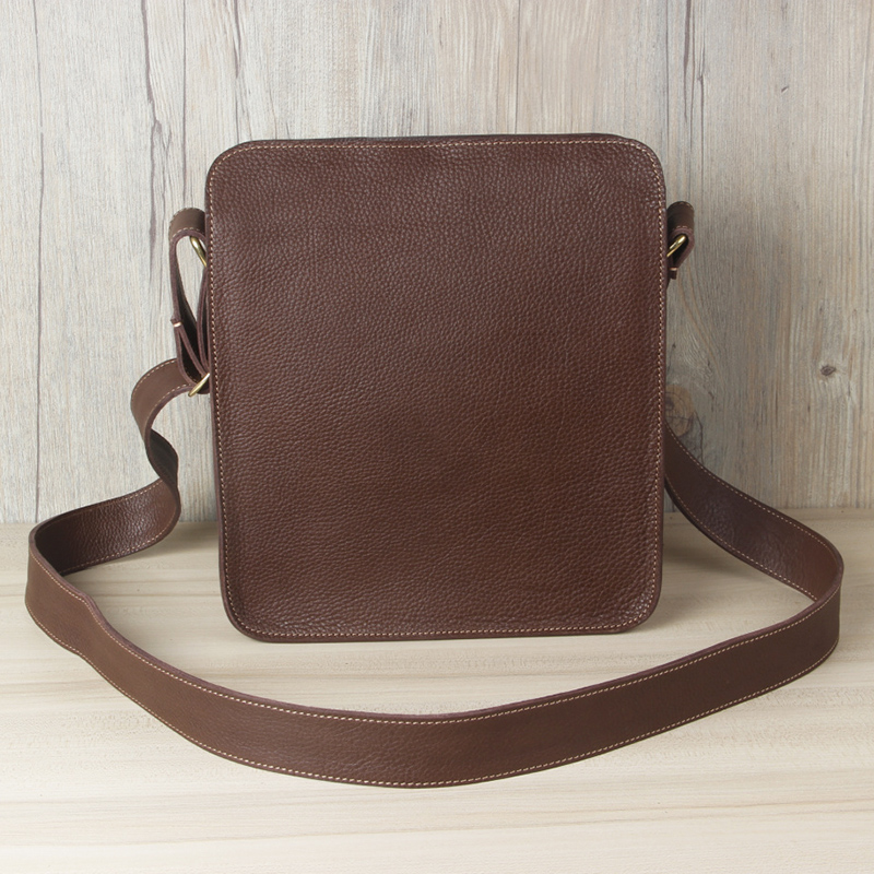Get Quotations · Leather casual leather man bag shoulder bag messenger  minimalist pure leather handmade leather messenger bag small a5027543aa9c3