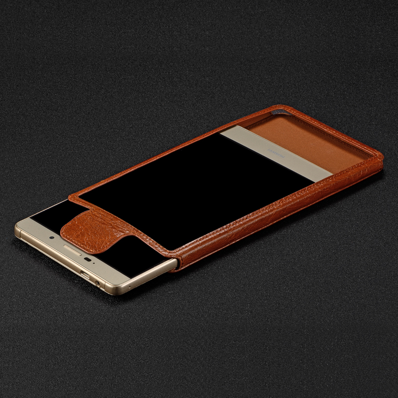 Leather huawei cell phone holster P8MAX P8MAX postoperculum P8MAX ascend phone shell protective sleeve 6.8 inch