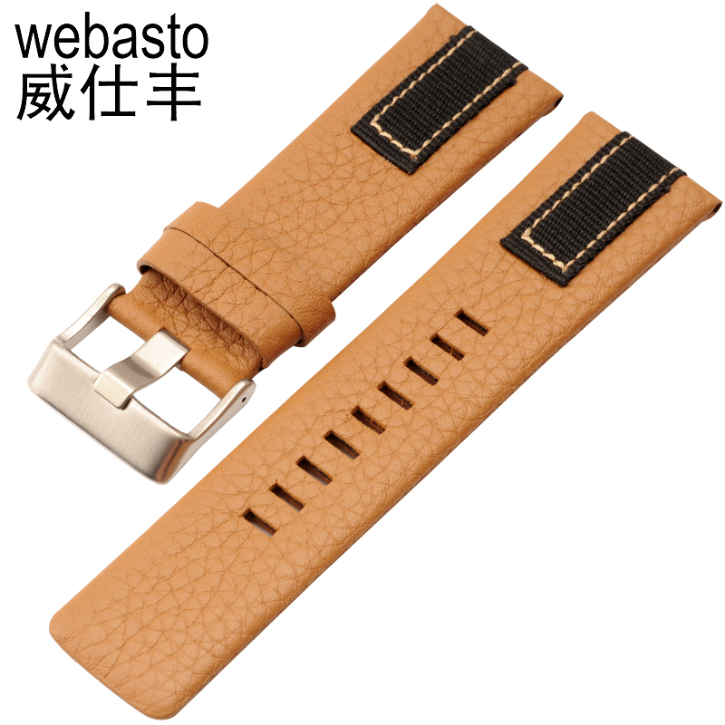 Leather watchband male disynthesis adaptering DZ4365 | 4280 | 1600 | 4305 | fashion soft leather strap 26mm