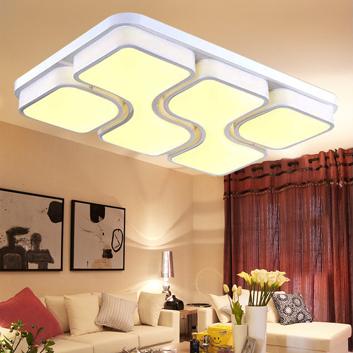 Led ceiling light rectangular living room atmosphere romantic master bedroom lighting fixtures restaurant study lamp lighting remote control