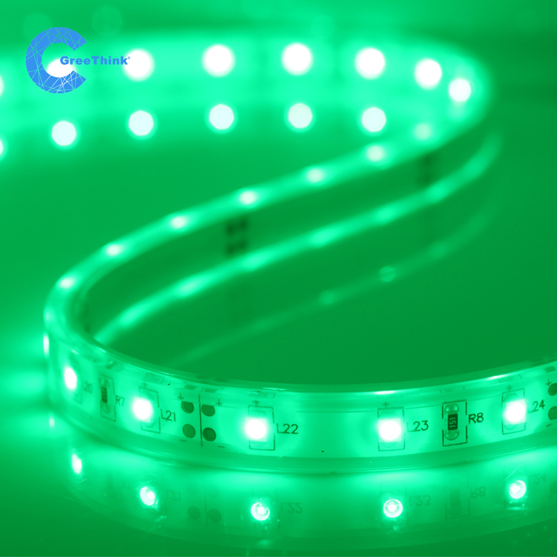Led lights with 12v3528 casing glue green highlight smd flexible strip light waterproof outdoor lights with decorative signs