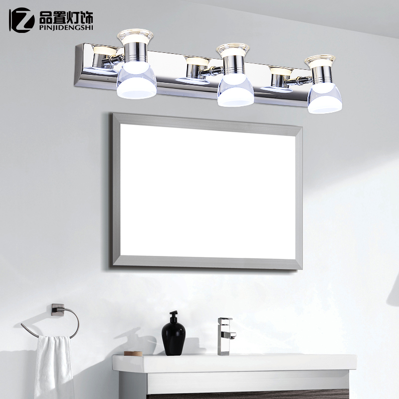 Led mirror light bathroom mirror cabinet modern minimalist stainless steel water fog lamps bathroom lights bathroom lighting ideas