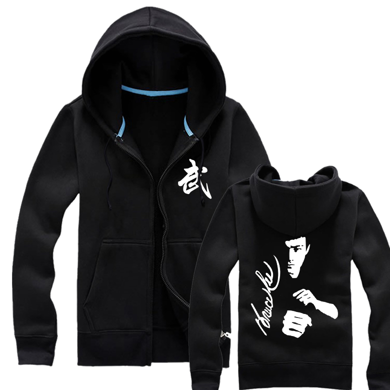Lee new tiger jeet kune do martial arts training martial arts taekwondo performance clothing clothes zipper sweater coat male casual autumn