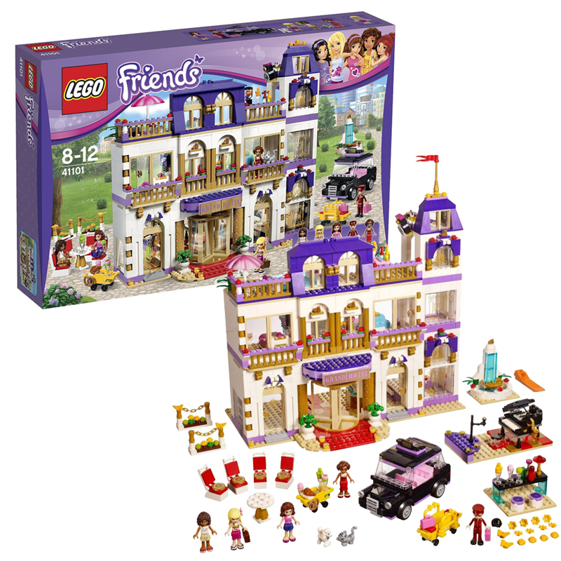 Lego toy building blocks assembled lego 41101 heart lake city girl friends hotel 8 years old +