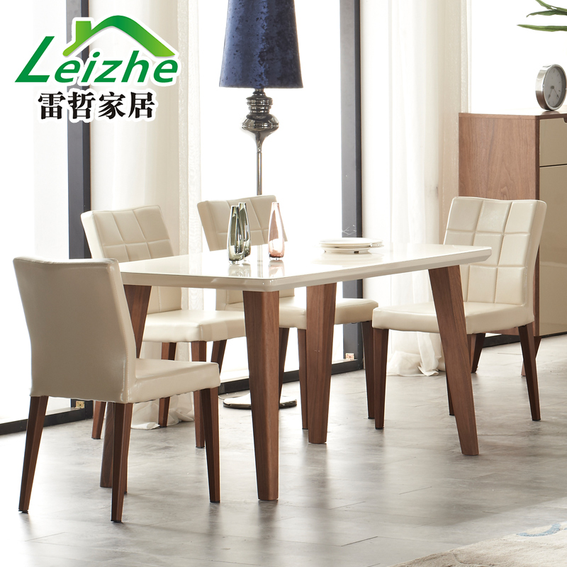 Leizhe modern minimalist scandinavian furniture wood dining table dining table small apartment dining table long table simple sideboard