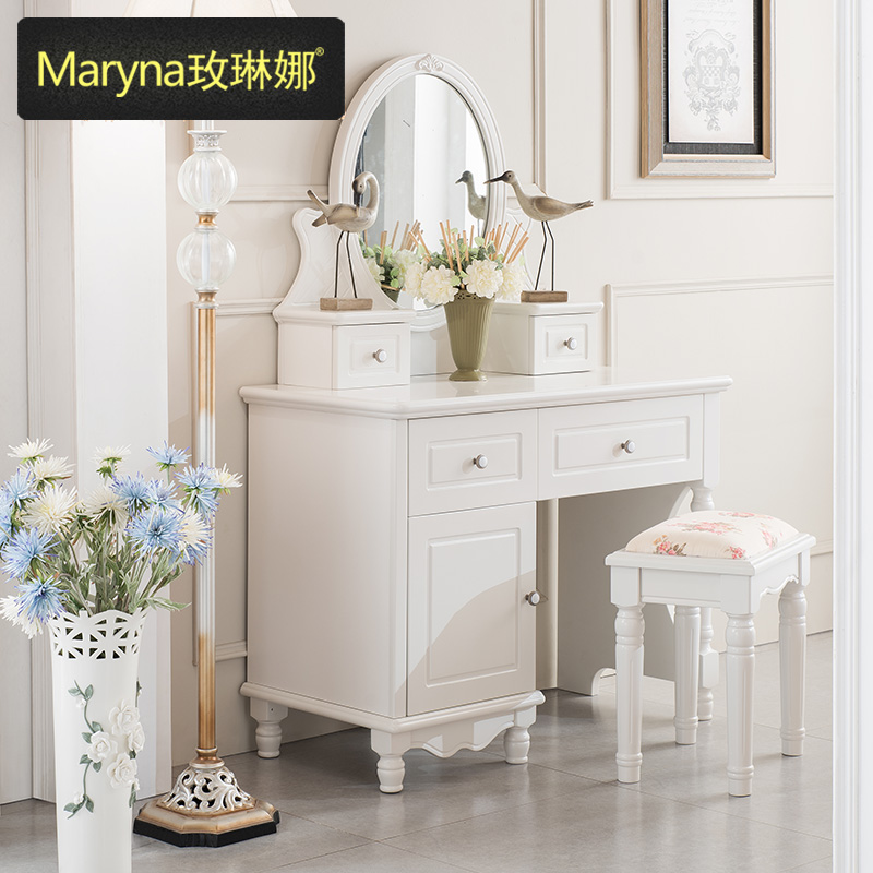 Lena rose continental furniture dresser dressing table ivory korean garden wood bedroom dresser dressing table dressing table makeup mirror