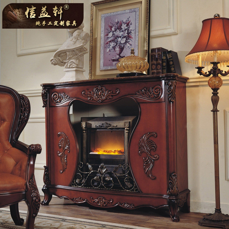 Letter benefits xuan european american wood fireplace wood fireplace mantel fireplace cabinet dark high section