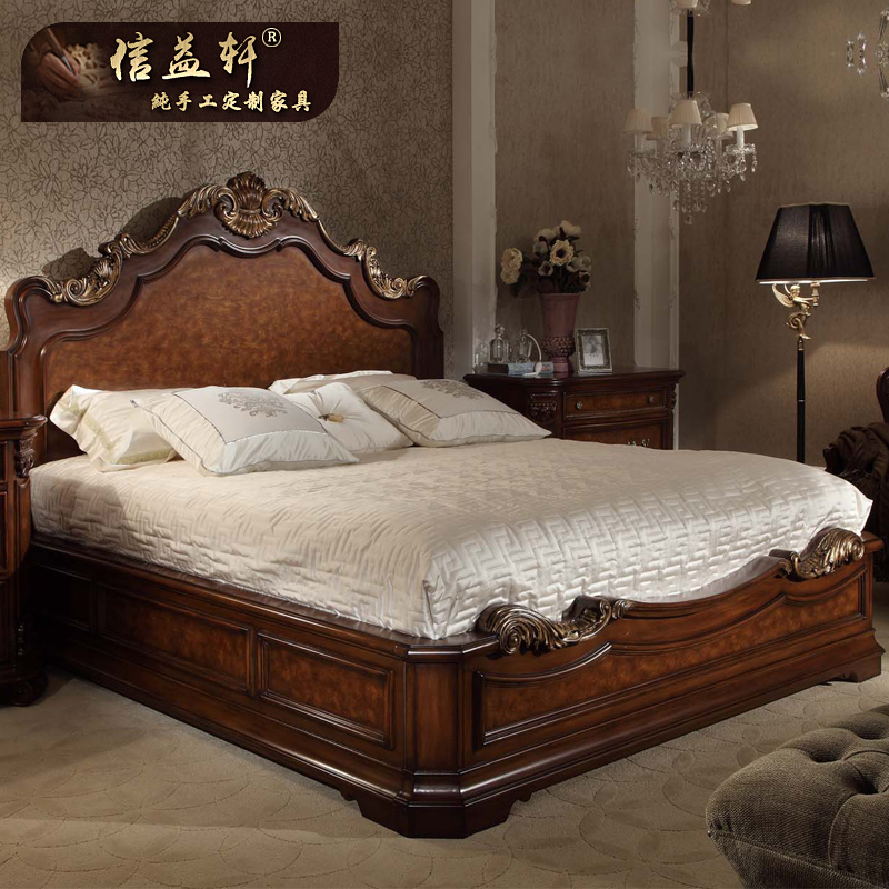 Letter benefits xuan furniture custom european double bed 1.8 m american country bed wood bed american bed c-012