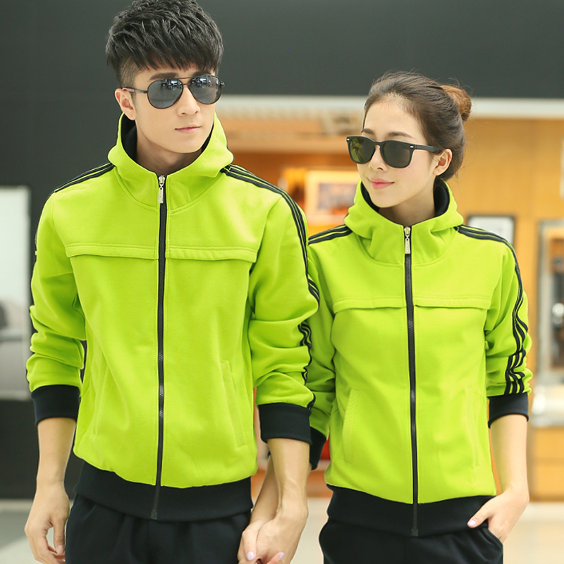 Letter dated 2016 from the movement of men and women warm winter clothes large size small yards lovers korean version of the spring and autumn leisure sports suit