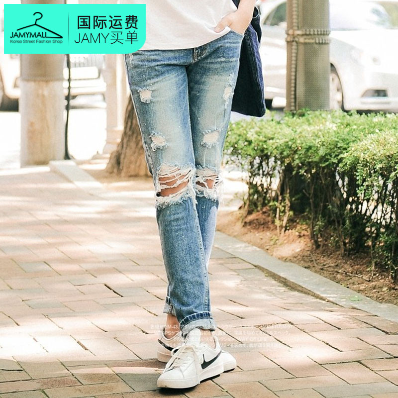 Letter dated 2016 from the south korea genuine summer new men's popular comfortable and stylish jeans