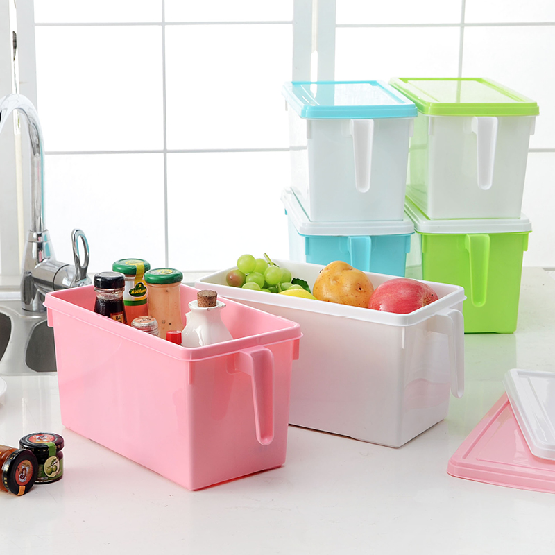 Lid with handle without pulley desktop storage box plastic sorting box storage cabinets storage cabinets kitchen storage box