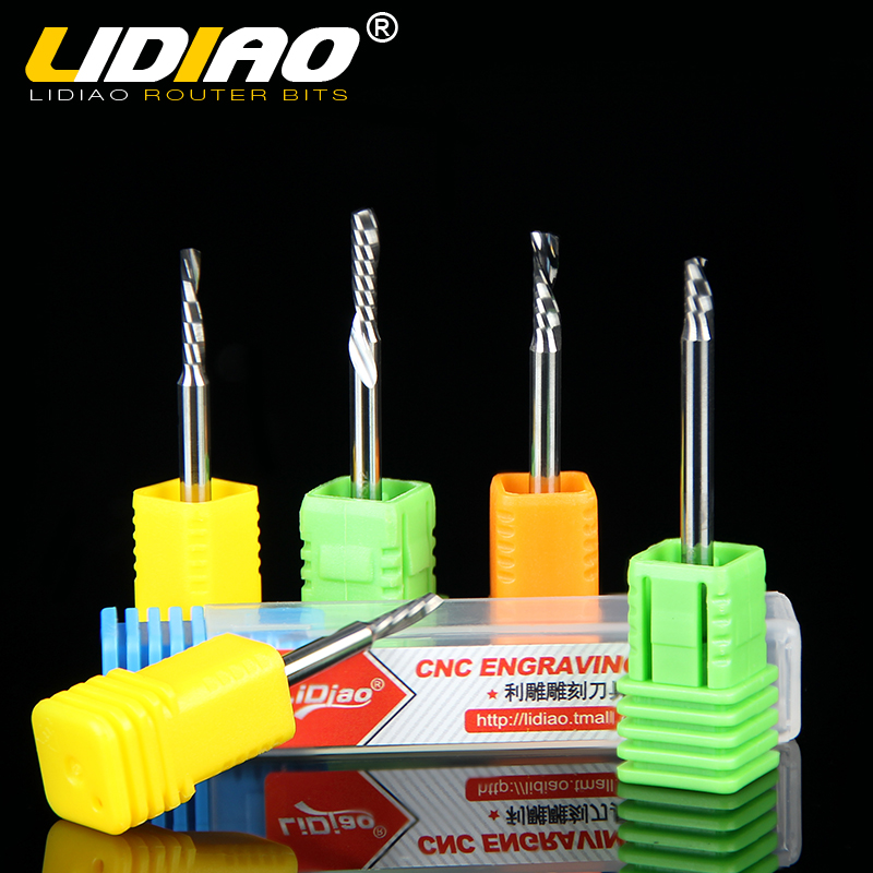 Lidiao single blade spiral cutter engraving machine tool imports of l were5mm 175mm acrylic spiral milling cutter