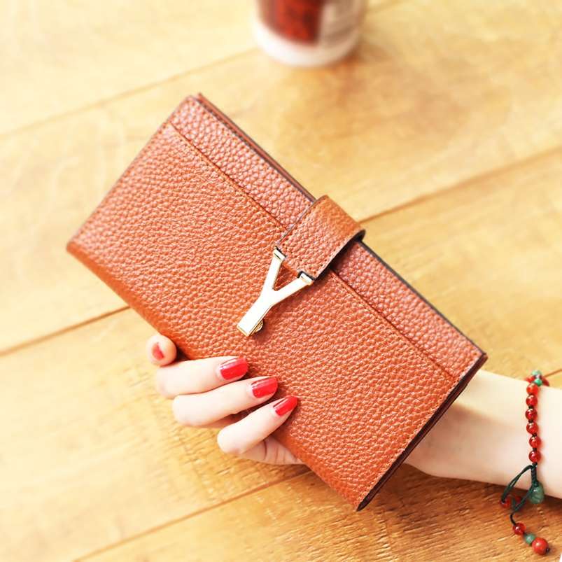 Liesl code 2016 new ladies leather wallet women long section of the korean version of slim takou fashion simple wallet tide