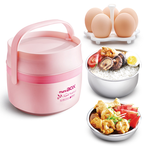 Life diary dfh-k5 electric heating insulation boxes unplugged electric stew pot boiled egg egg mini steamed rice is genuine
