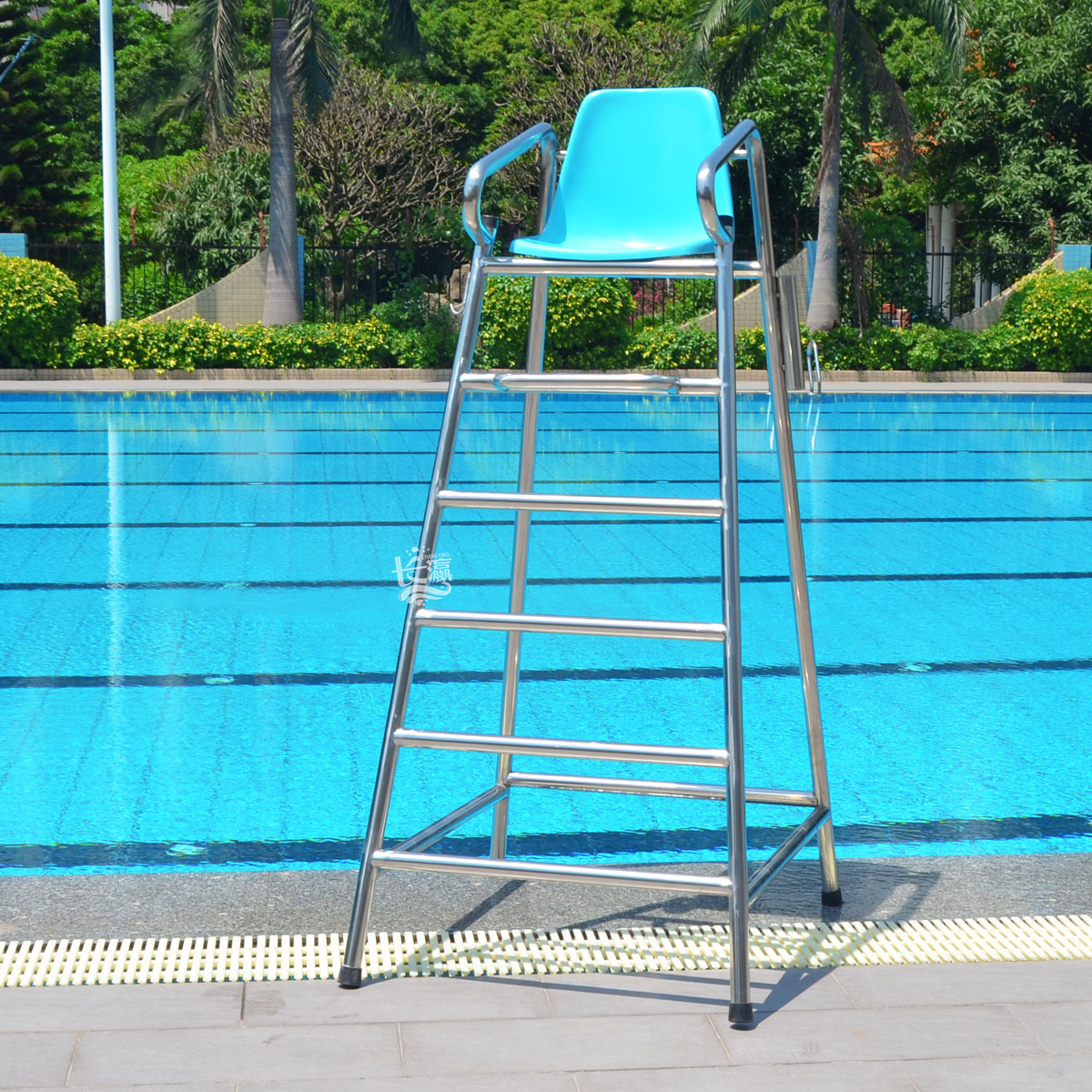 Lifesaving chair umpire chair chairs overlooking quality 304 stainless steel pool watching lookout lifeguard chair chair