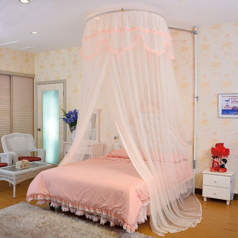 Lift nets 1.5/m bed stainless steel retractable landing astrodome sha hair princess student nets 1.2 m