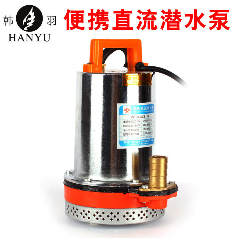 Lifted high power 60 v/v dc submersible pump water pump electric car battery ship with pumping Water machine