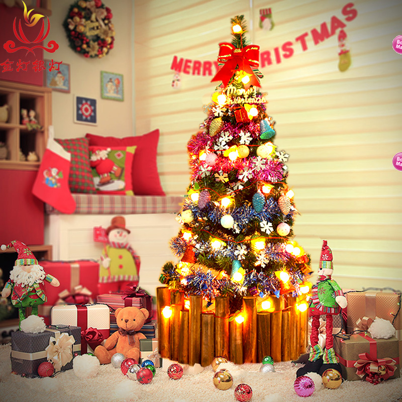 Get Quotations · Light silver lamp 1 m christmas tree package 100cm fruit containing decorative lights christmas tree christmas