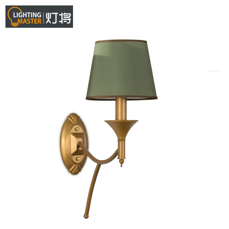 Lights will study bedroom bedside wall lamp wall lamp american country living room with a single head wall lamp american iron