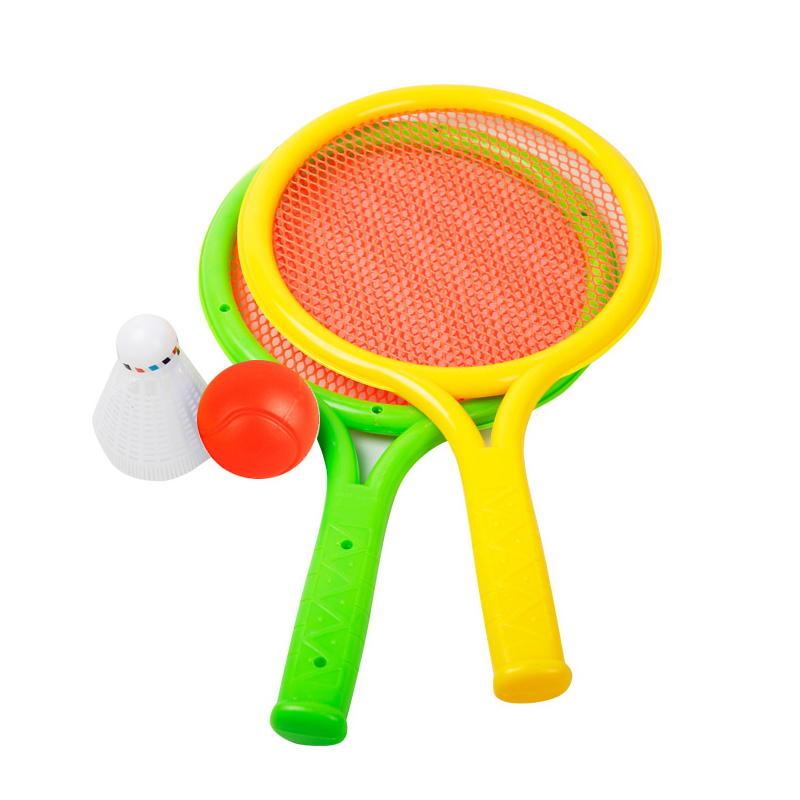 Lightweight double shot badminton racket tennis racket for children with baby suit kindergarten paternity outdoor sports toys